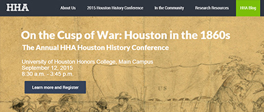 Teaser Image for Houston History Alliance Website